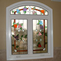 Stained Glass Bathroom Window Denver
