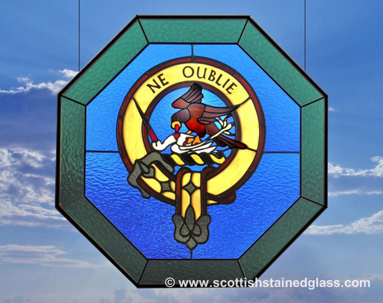 family crest stained glass window denver
