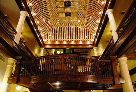 hotel boulderado stained glass ceiling restoration