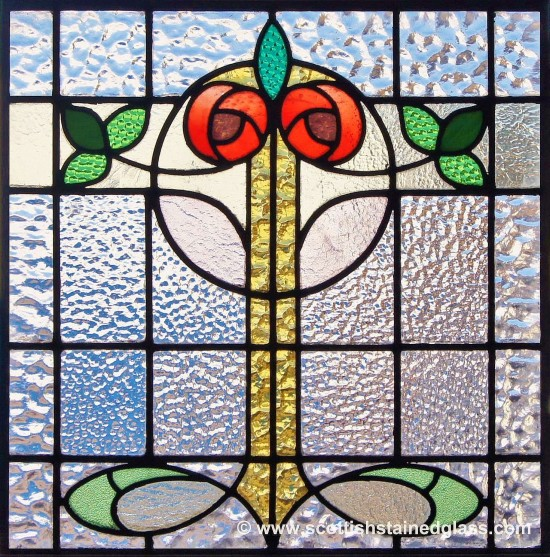 antique floral stained glass denver