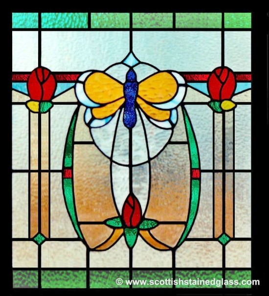 antique nature stained glass