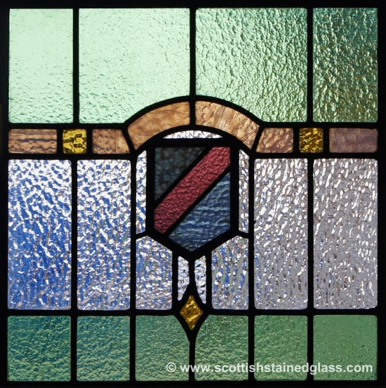 antique scottish stained glass