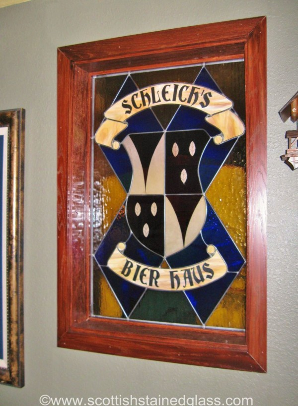 basement bar stained glass