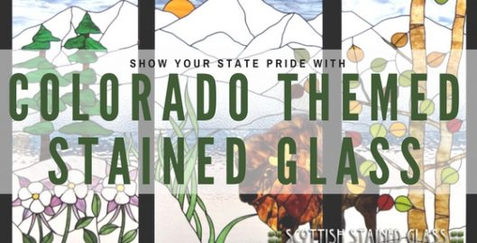 colorado themed stained glass