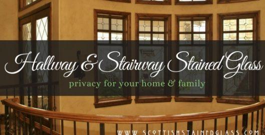 hallway stairway stained glass denver