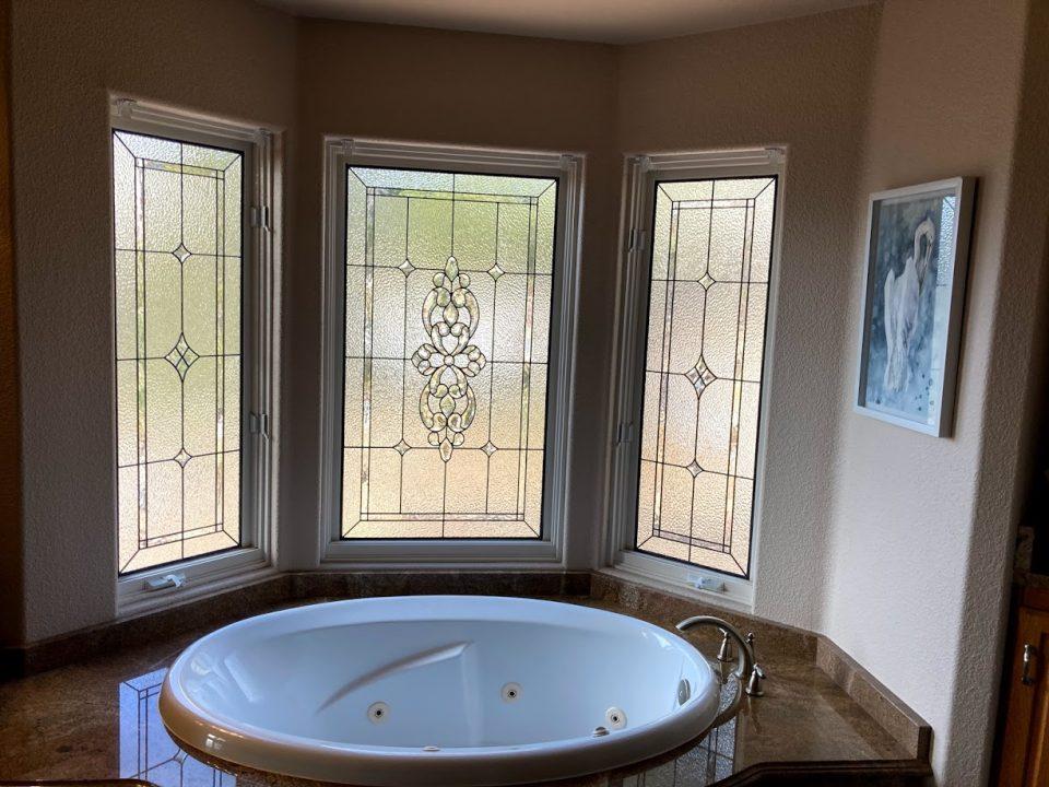 bathroom stained glass windows denver